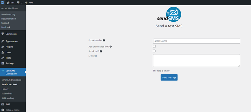 Un nou plugin SendSMS pentru WordPress- abonare prin SMS + autentificare în 2 pași